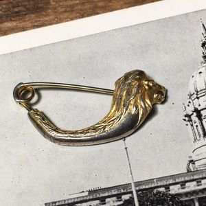 Vintage Lion Safety Pin